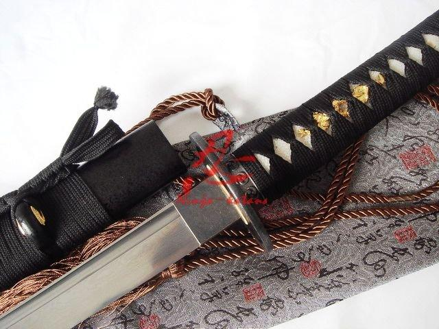 Hand Forged Folded Steel Japanese Samurai Katana Sword Cyclone Tsuba Sharpened