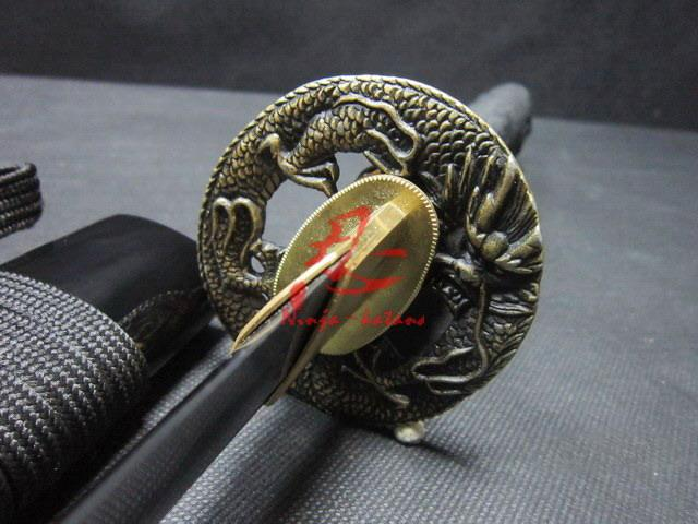 Handforged Japanese Wakizashi Sword Dragon Tsuba Very Sharp