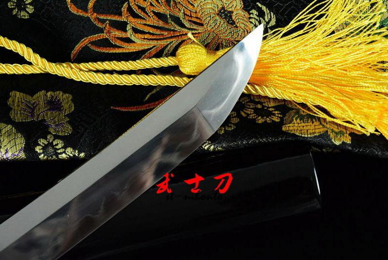 Clay Tempered Kobuse Blade Japanese Tanto Sword Handachi Koshira Fittings