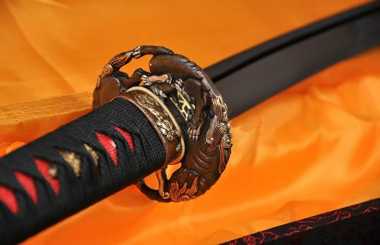 High Quality Japanese Samurai Sword Sakabato Reverse Edged Sword Very Sharp