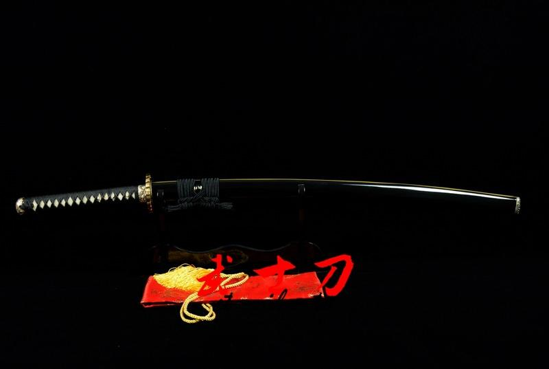 Excellent Clay Tempered T-10 Steel Full Tang Blade Katana Wave Theme Japanese Sword Choji Hamon
