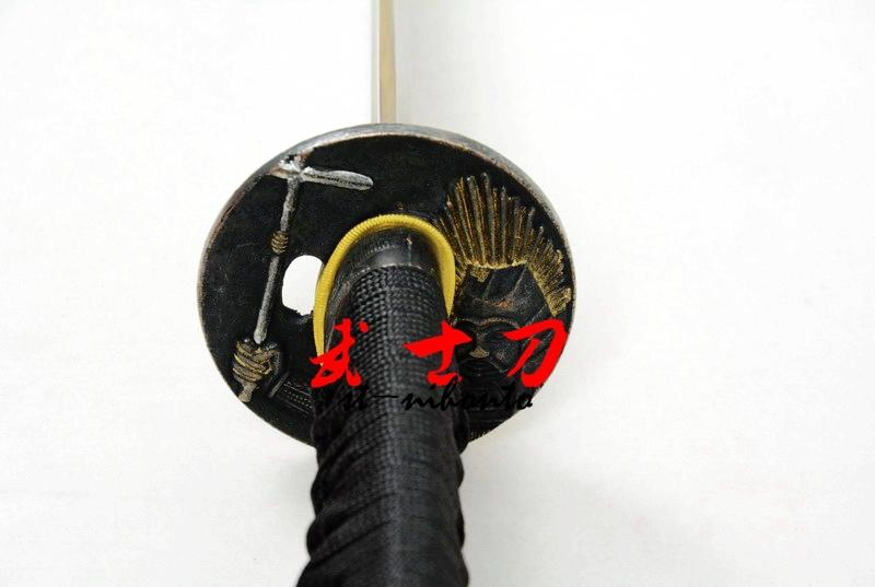 Handmade Green Japanese Battle Ready 9260 Spring Steel Katana Warrior Tsuba Full Tang Balde Samurai Sword