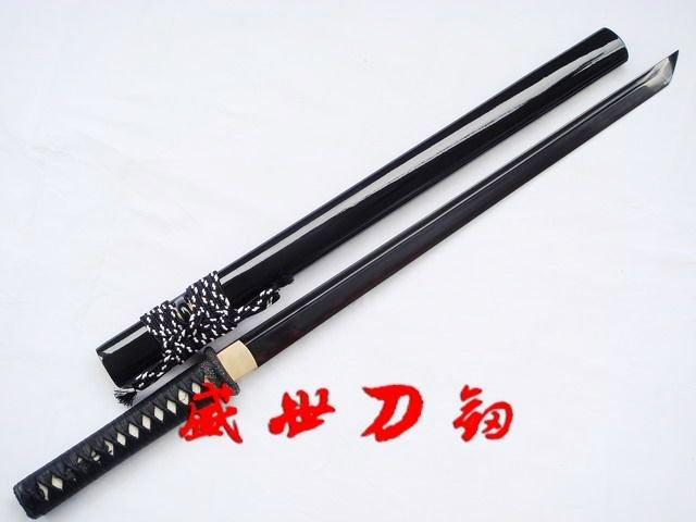 Handmade Japanese Ninja Sword Clay Temperd 1095 Steel With Tungsten Adsorb Blade