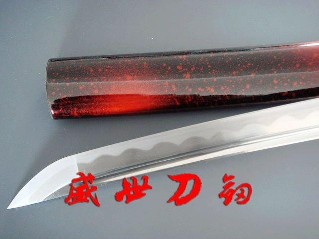 Hnadmade Japanese Silver Dragon Tsuba Katana Sword Sharpened Blade Can Cut Tatami