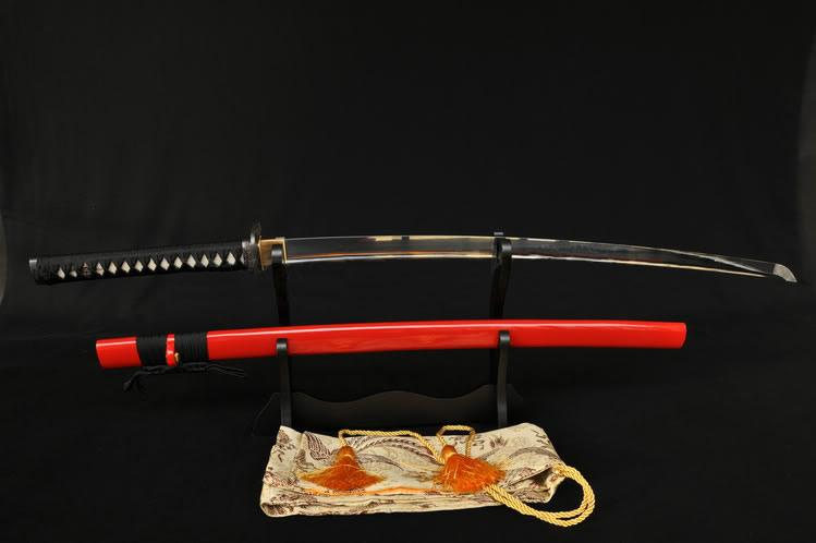 Full Tang Blade Warrior Tsuba Japanese Samurai Sword