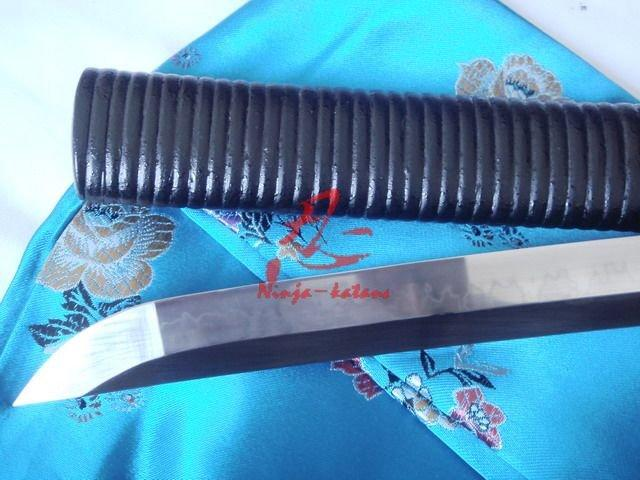 Clay Tempered Battle Reday Katana Plum Blossom Tsuba Sharpened