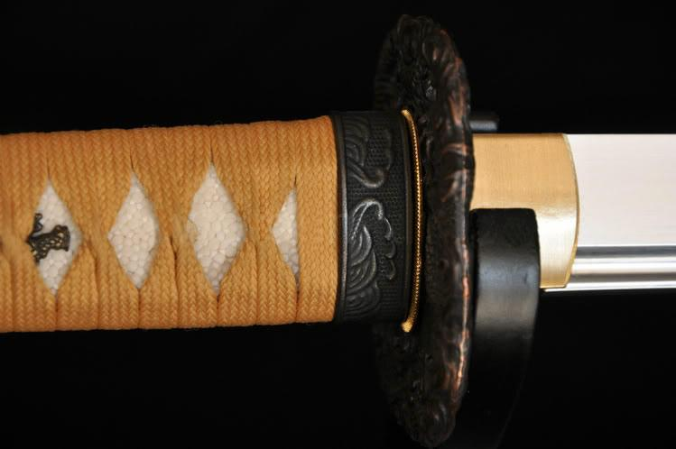 Full Tang Blade Dragon Tsuba Japanese Samurai Sword