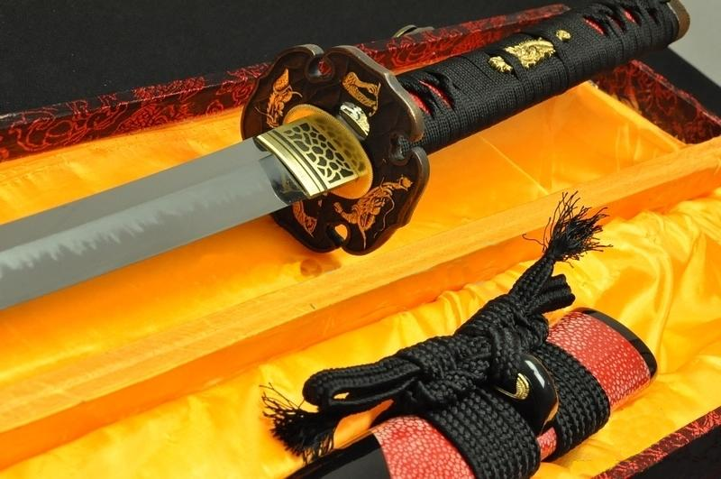 Clay Tempered Full Tang Blade With Hazuya Polish Japanese Samurai Katana Sword