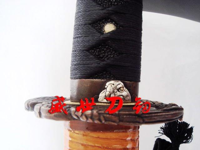 Clay Tempered T-10 Blade Japanese Samurai Katana Eagle Tsuba Razor Sharp Edge
