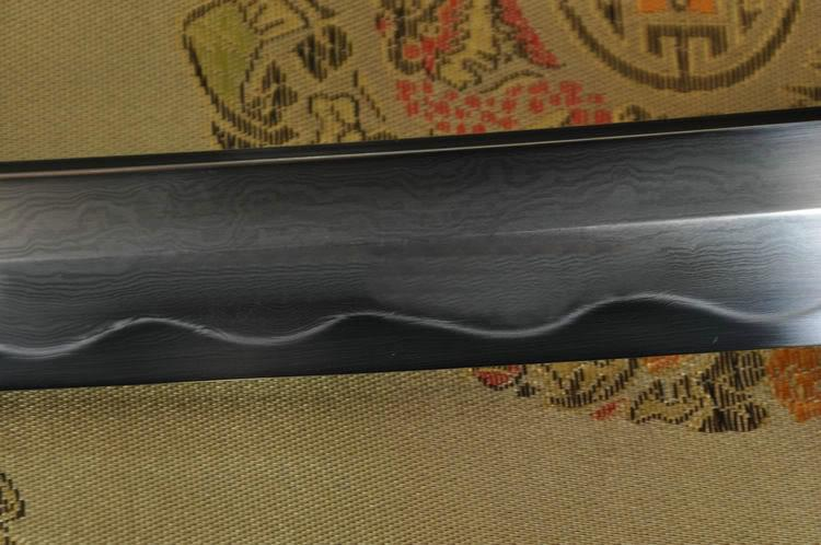 Clay Tempered Folded Steel Full Tang Blade Bull Horn Saya Japanese Sword Katana