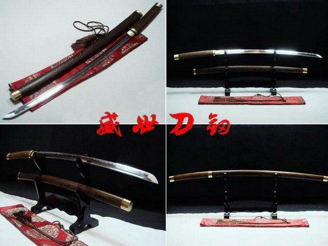 Hand Forged Japanese Shirasaya Katana Sword Hualee Wooden Saya Handle