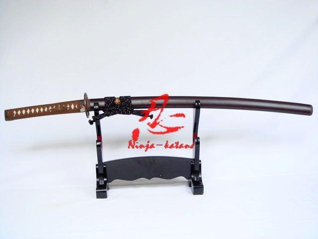 Clay Tempered Double Groove Japanese Functional Wolf Katana Can Cut 5bamboos
