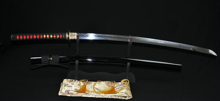 High Quality Japanese Samurai Sword Katana Clay Tempered Full Tang Blade Sharp