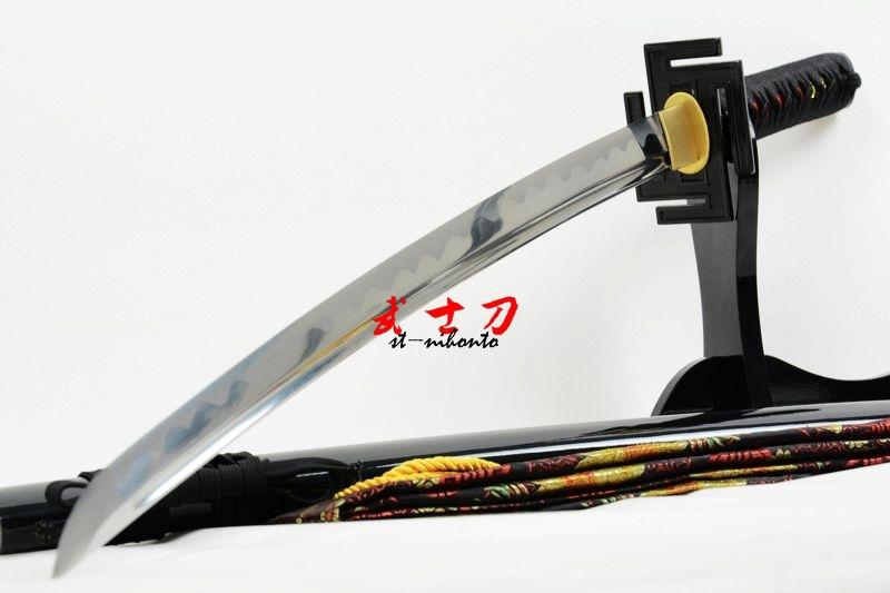 Handmade 1060 Carbon Steel Full Tang Japanese Wakizashi Katana Bleath Inchigo Tansa Full Tang Sword Sharp