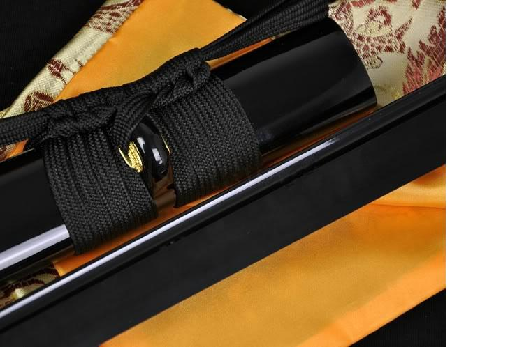 Black Steel Full Tang Blade Handmade Japanese Samurai Ninja Sword Very Sharp