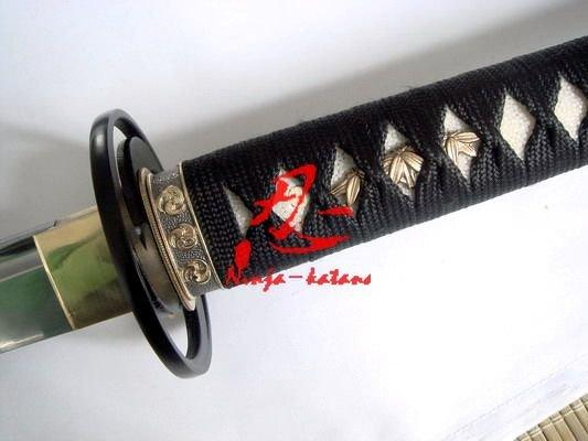 Hand Forged Japanese Katana Sword Cyclone Tsuba Sharpened