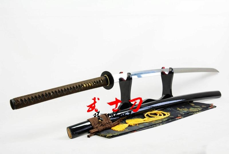 Clay Tempered T-10 High Carbon Steel Full Tang Balde Nodachi Katana Suguha Hamon Sword