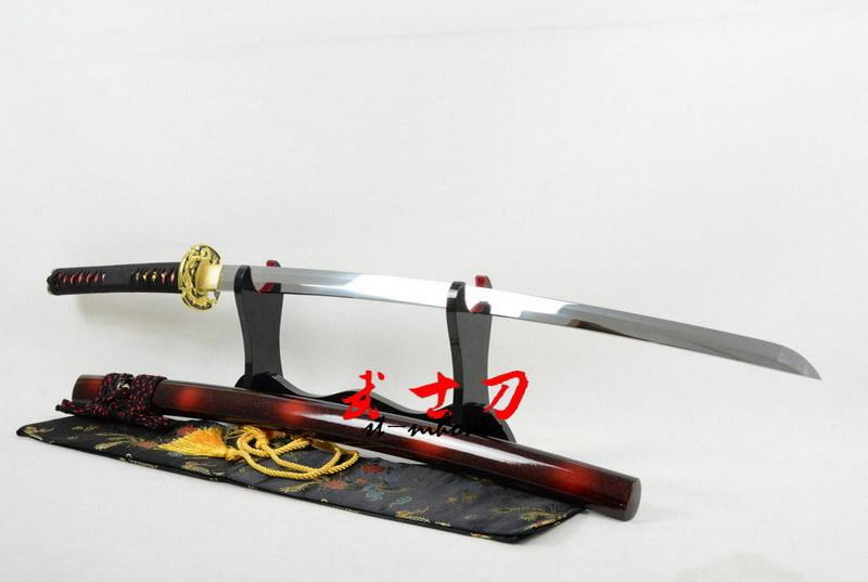 Battle Ready Quenched Oil Spring Steel Katana Full Tangsword Dragon Tsuba Sharpened