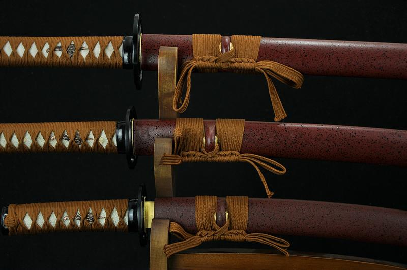 High Quality Hand Forged Japanese Samurai Sword Set Katana Wakizashi Tanto