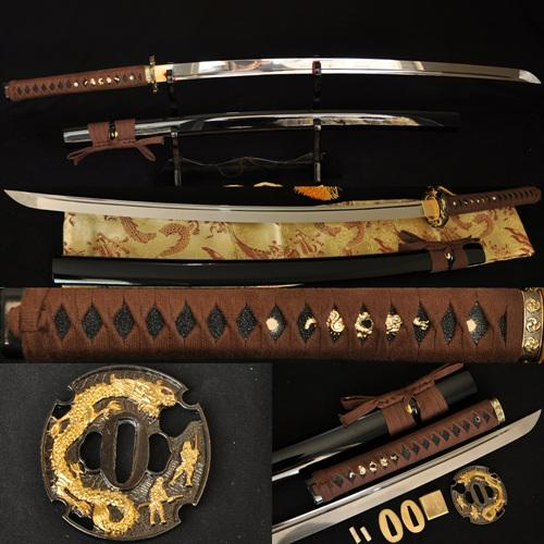 1060 High Carbon Steel Dragon Tsuba Japanese Samurai Sword Katana