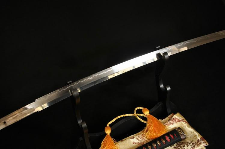 Japanese Samurai Dragon Sword Katana Clay Tempered Blade Ray Skin Wrapped Saya