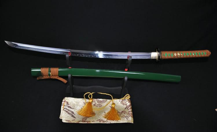 Japanese Katana Clay Tempered Unokubi-Zukuri Blade Sharp