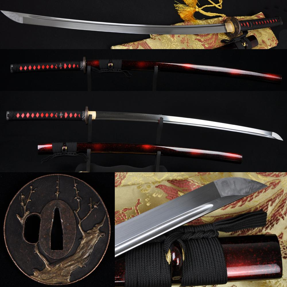 41 Inch Hand Forged Japanese Samurai Sword Katana Folded Steel Full Tang Blade Sharp