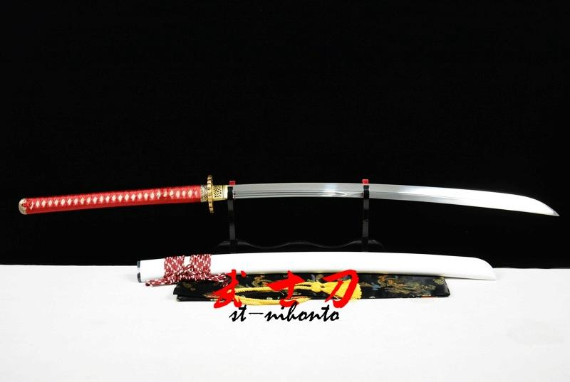 Battle Ready Quenched 9260 Spring Steel Blade Japanese White Naginata Sword Full Tang