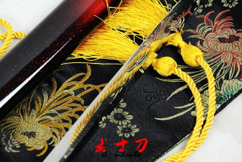 40.6 Excellent Battle Ready Japanese Full Tang Katana Quenched L6 Steel Blade Sword