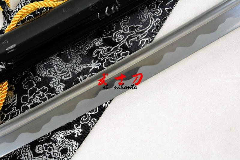 Handmade 1060 Cabron Steel Full Tang Blade Japanese Katana Kill Bill Tsuba Sharpened Sword
