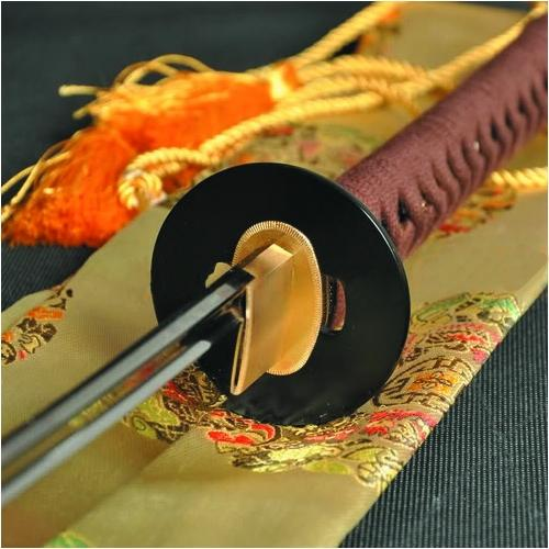 Handmade Japanese Samurai Sword Katana 1095 High Carbon Steel Blade Iron Tsuba