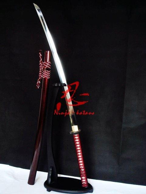 Clay Tempered T-10 Blade Katana Plum Blossom Tsuba Sword Sharpened