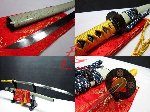 Clay Tempered Battle Ready Katana Shobu Zukuri Kissaki Blade Sharpened Sword