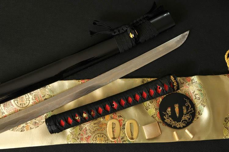 41 Inch Japanese Samurai Sword Katana Clay Tempered Folded Steel Blade